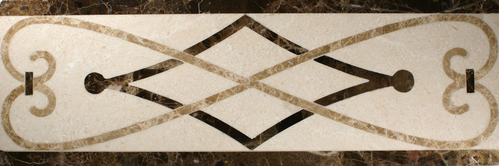 Ceramic rope tile border